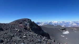 International summit of  Volcano San Jose